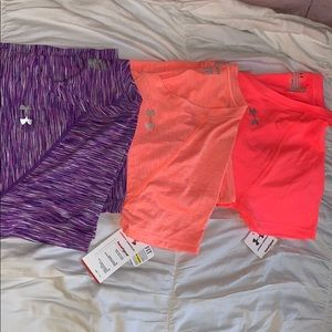 Under armour workout t-shirts